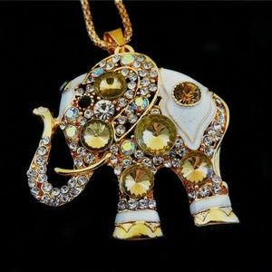 Rhinestone and Enamel Elephant NWT-